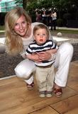 Alison Balsom with her son Charlie Book launch...