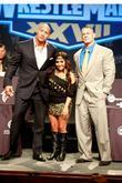 Dwayne Johnson, John Cena and Nicole Polizzi