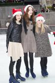 Julia Goldani Telles, Emma Dumont, Bailey Buntain and Rockefeller Center