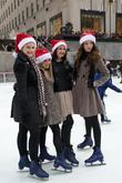 Kaitlyn Jenkins, Bailey Buntain, Julia Goldani Telles, Emma Dumont and Rockefeller Center