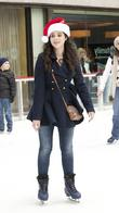 Vanessa Marano at Rockefeller Center Ice Rink during...