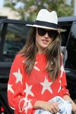 Alessandra Ambrosio and her son Noah visit the...