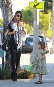 Alessandra Ambrosio and her daughter Anja spend the...