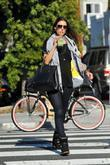 Alessandra Ambrosio enjoys a drink as she spends...