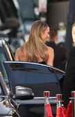 Stacy Keibler and Beverly Hilton Hotel