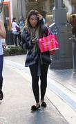Angela Simmons walking through the Grove after shopping...