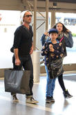 Jude Law, Iris Law and Rudy Law