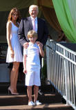 Donald Trump, Melania Trump and Barron Trump