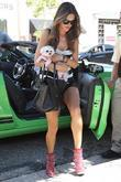Alessandra Ambrosio shopping with her dog at Kitson...