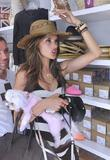 Alessandra Ambrosio shopping at Kitson in West Hollywood...