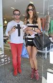 Alessandra Ambrosio with Matheus Mazafera shopping at Kitson...
