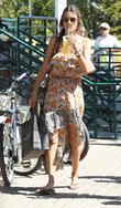 Alessandra Ambrosio shops in Malibu with her daughter...