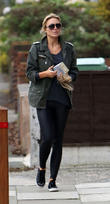 Alex Gerrard heads to her hairdresser carrying some...