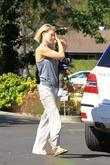 Ali Larter is seen with her son Theodore...