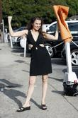 Alicia Arden poses for photos whilst out and...