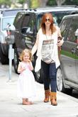 Alyson Hanigan and daughter Satyana Marie Denisof are...