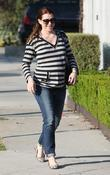 Alyson Hannigan leaves a hair salon in West...