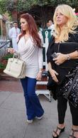 Amy Childs and Claire Powell leave The Ivy...