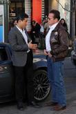 Arnold Schwarzenegger and Mario Lopez