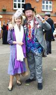 John McCririck with his wife Jenny Royal Ascot...