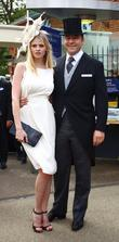 David Walliams and Lara Stone Royal Ascot at...