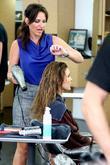 Audrina Patridge getting her hair styled at Gavert...