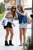 Audrina Patridge poses for a photo with a...