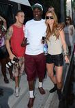 Audrina Patridge poses for a picture with a...
