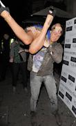 Danielle Mason and boyfriend Tony Giles leaving Aura...