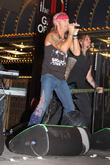 Brett Michaels performs live on Freemont Street...