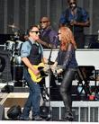 Bruce Springsteen and wife Patti Scialfa perform at...