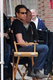 David Duchovny  seen on the set of...