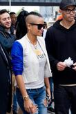 Cassie Ventura  hands out icream sandwiches from...