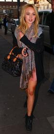 Jorgie Porter Celebrities arrive at the Riverside studios...