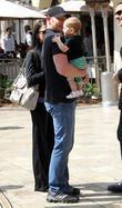 Ian Ziering shops at The Grove in Hollywood...