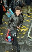 Alex Bain arrives at Euston Station to attend...