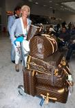 Tamara Beckwith  Celebrities at Nice Airport during...