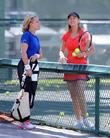Elizabeth Shue and Chris Evert