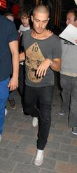 Max George  Celebrities leave Cirque Du Soir...
