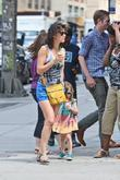 Cobie Smulders leaving a Starbucks with her daughter...