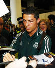 Cristiano Ronaldo, Manchester Airport, Real Madrid's and Manchester Cit