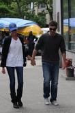 david annable and wife odette yustman take a stroll