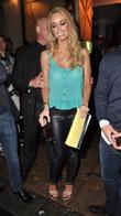 Lauren Pope  leaving DSTRKT nightclub London, England