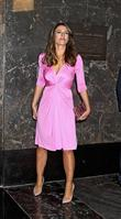 elizabeth hurley lights up the empire state buildin