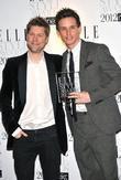 Eddie Redmayne and Christopher Bailey