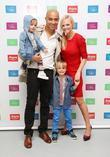Emma Bunton, Jade Jones and sons Beau and...