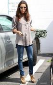 Eva Longoria visits a day spa in Beverly...