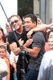 jean-claude van damme at the grove to appear on ent