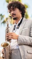 China Moses' saxophonist at the Festival de Nice...