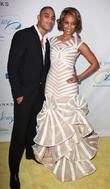 Rob Evans and Tyra Banks